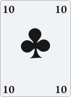 Ten clubs like in a deck of cards for astrological analogy.