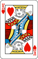 Graphic representing the King of Hearts