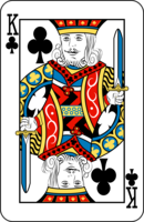 Graphic depicting the King of Clubs if the Royal Baby is born today, July 15, 2013.